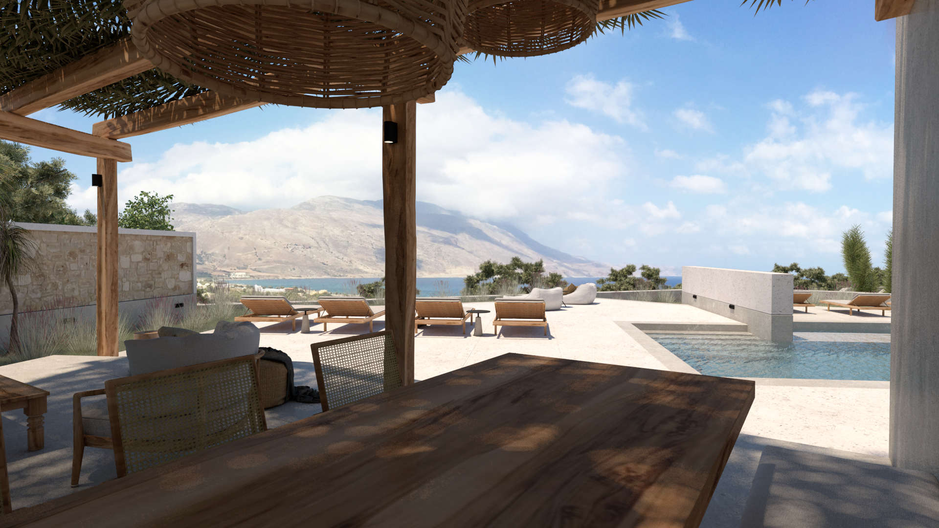 holiday homes renovation,exterior design, outdoor spaces, living space, ανακαίνιση παραθεριστικικών κατοικιών, εξωτερικοί χώροι, καθιστικό